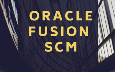 Oracle Fusion SCM 32nd Batch@22-06-2020